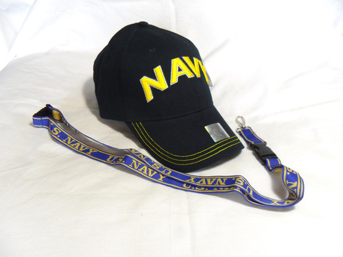 U S  Navy with Gold Navy Logo Navy Blue Officially Licensed