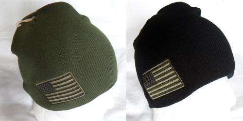 US American Flag Tactical Watch Cap Beanie Winter Ski Hat Toboggan