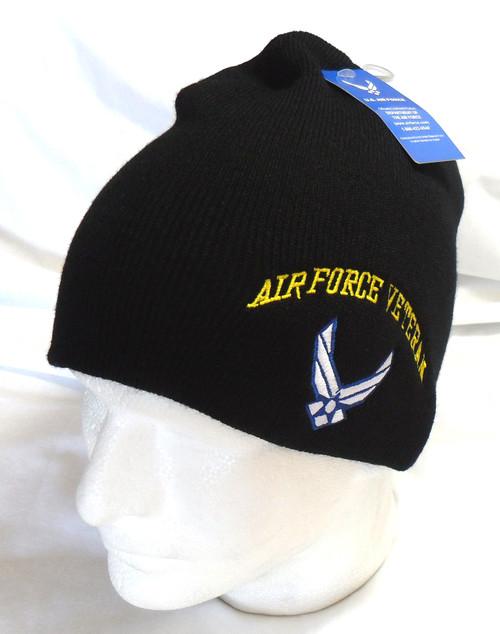 U.S.A.F.  US Air Force  Veteran Watch Cap Beanie Winter Ski Hat Toboggan Officially Licensed