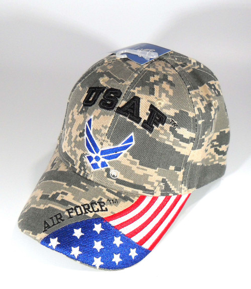 ACU US AIR FORCE OFFICIALLY LICENSED Embroidered With Seal & Flag Hat Baseball cap