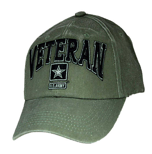 US ARMY VETERAN - U.S. Army with Army Star Officially Licensed Baseball Cap Hat