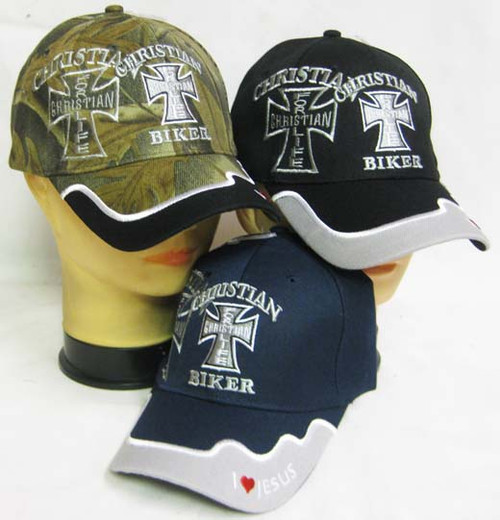 CHRISTIAN For Life Christian Biker HAT Baseball Cap