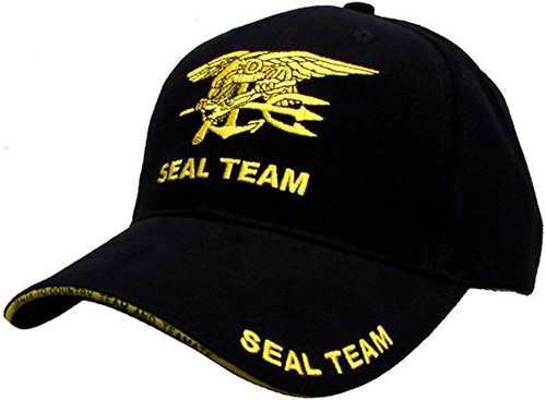 US NAVY SEAL TEAM With Trident Military Hat Baseball Cap Officially Licensed
