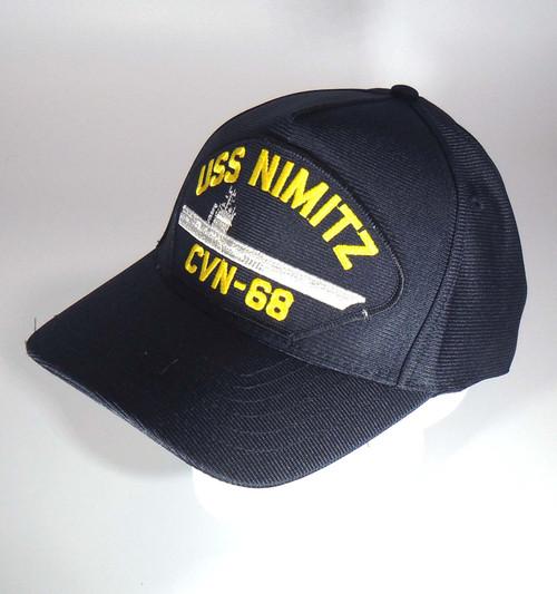 USS NIMITZ CVN-68 NAVY SHIP HAT OFFICIALLY LICENSED BASEBALL CAP Made in USA