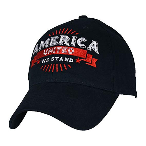 America United We Stand Embroidered Baseball Cap Hat