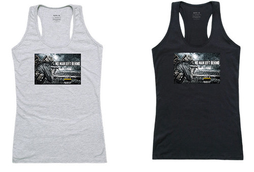 No Man Left Behind Tactical Women's Graphic Tanks Tee T-Shirt