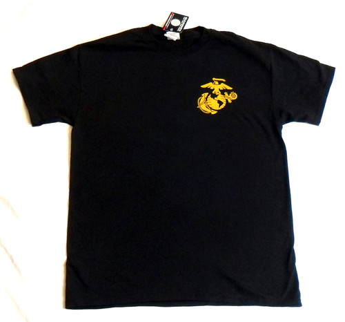 USMC United States Marines Officially Licensed Tee With Gold EGA GRAPHIC TEE T-Shirt