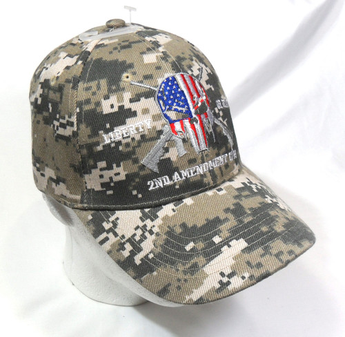 ACU Punisher 2nd Amendment Hat Liberty or Death Baseball Cap Hat