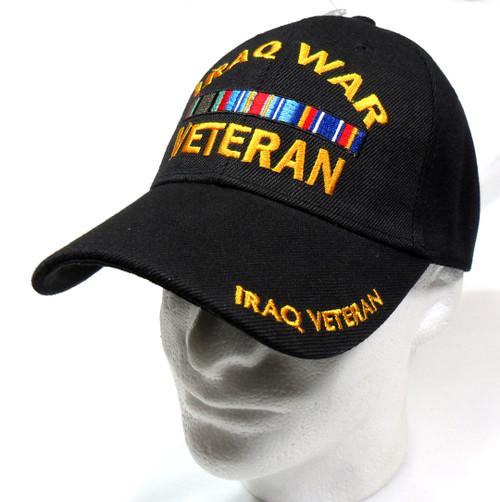 Iraq War Veteran Black Miltary Hat Baseball Cap (You Are Appreciated)