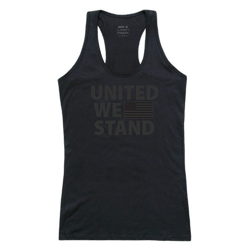 United We Stand with Flag Women's Tactical Graphic Tanks Tee T-Shirt
