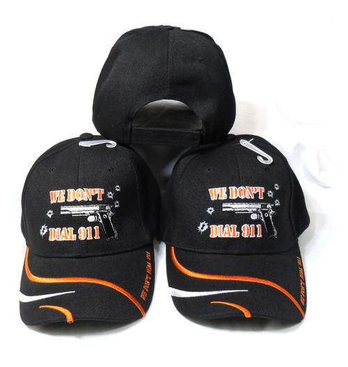 3 Pack Black We Dont Dial 911 Tactical Baseball Cap Hat
