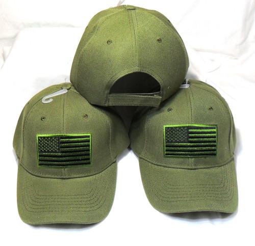 3 Pack ODG American Flag Tactical Baseball Cap Hat