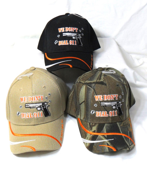 3 Pack Mix We Dont Dial 911 Tactical Baseball Cap Hat