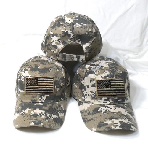 3 Pack ACU American Flag Tactical Baseball Cap Hat