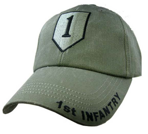 US ARMY 1ST INFANTRY - U.S. Army OD Green Military Baseball Cap Hat