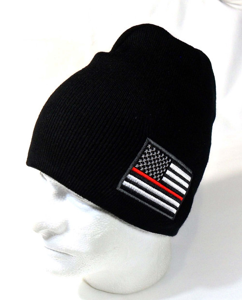 Thin Red Line Watch Cap Beanie Winter Ski Hat Toboggan Cap (Respect Those That Serve)