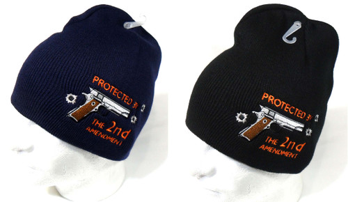 Protected by 2nd Watch Cap Beanie Winter Ski Hat Toboggan Cap