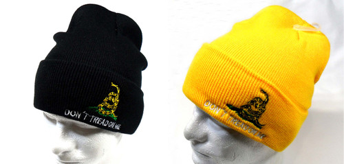 Dont Tread On Me Watch Cap Beanie Winter Ski Hat Toboggan Cap