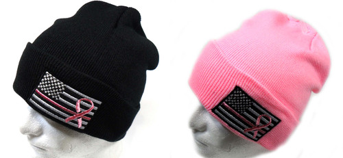 Cancer Awareness Watch Cap Beanie Winter Ski Hat Toboggan Cap
