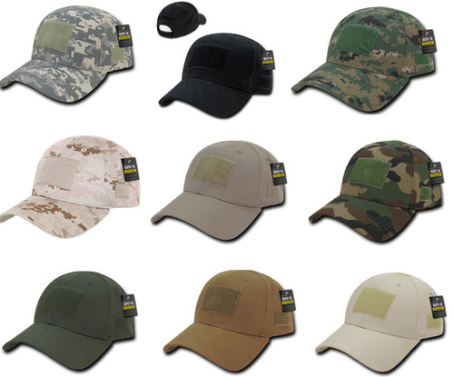 Low Crown Structured Tactical Military Patch Baseball Cap Hat