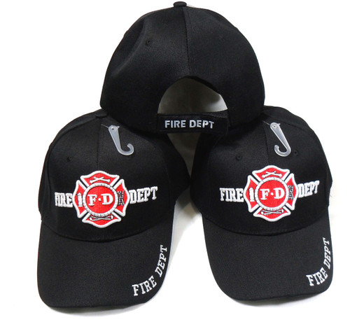 (3 Pack) Fire Department Hat Baseball Cap (Show Your Appreciation for Emergency Services)