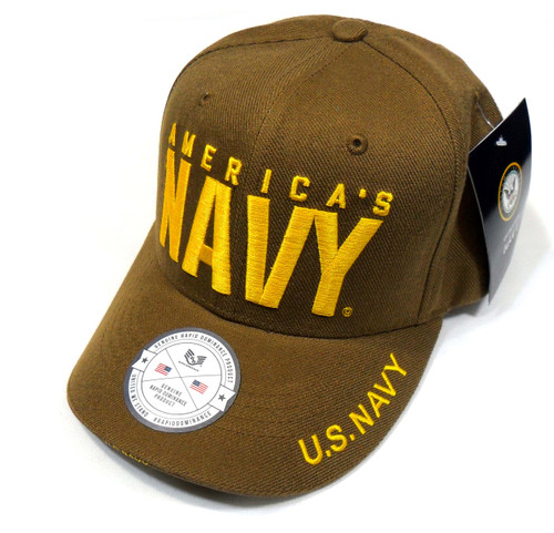 US Navy AMERICAS Navy Officially Licensed Bold Letter Military Hat Baseball Cap