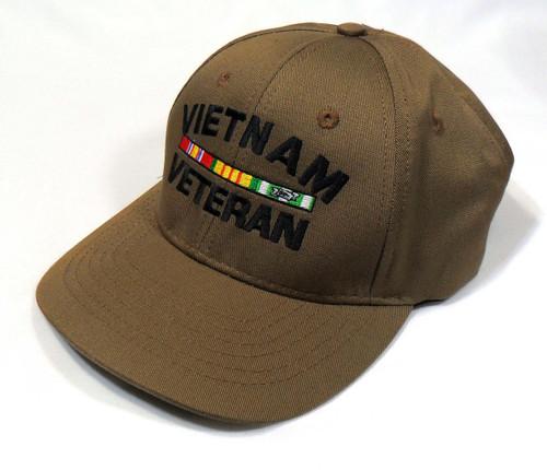 VIETNAM VETERAN CAP CYB MADE IN USA WITH RIBBONS US MILITARY HAT BASEBALL CAP