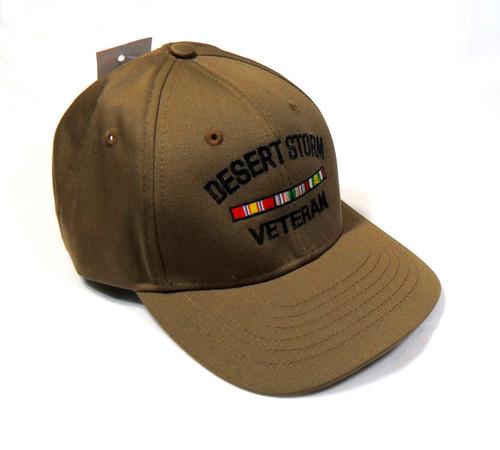 DESERT STORM VETERAN CYB CAP MADE IN USA WITH RIBBONS US MILITARY HAT BASEBALL CAP