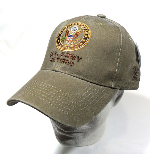 US ARMY RETIRED U.S. Army with Army Seal Officially Licensed Baseball Cap Hat