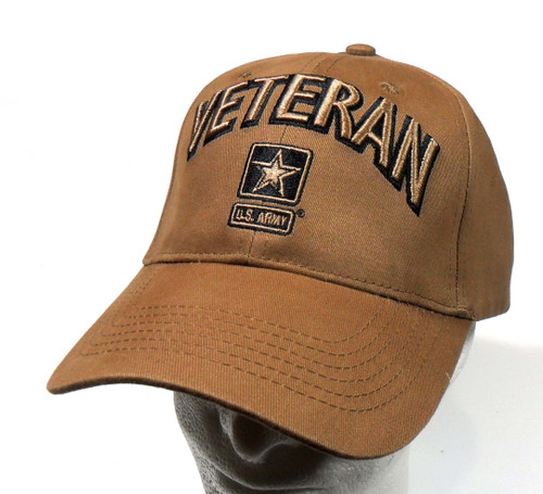 U.S. Army Veteran with Army Star CYB Officially Licensed Baseball Cap Hat