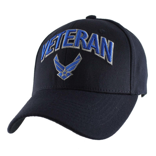 U.S.A.F. US AIR FORCE VETERAN OFFICIALLY LICENSED (Strecth Fit) Military Hat Baseball cap