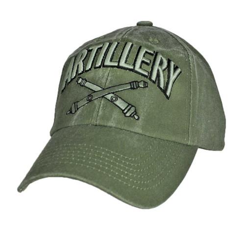 US ARMY ARTILLERY - U.S. Army Artillery OD Green Military Baseball Cap Hat