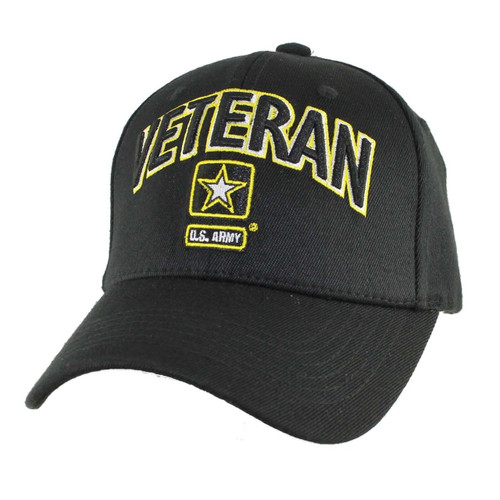 US ARMY VETERAN U.S. Army with Army Star Baseball Cap Hat Officially Licensed
