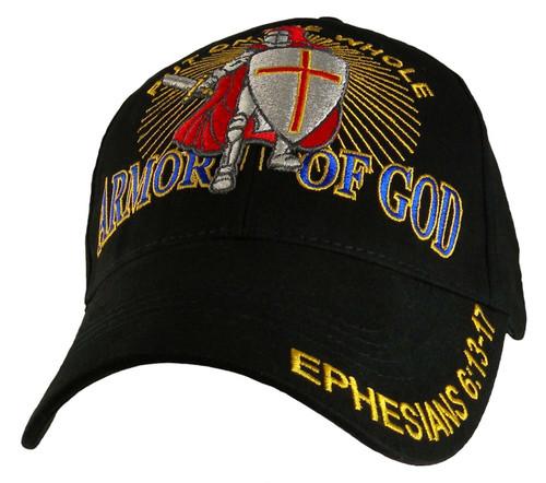 ARMOR OF GOD With Knight CHRISTIAN HAT BASEBALL CAP Ephesians 6:13-17