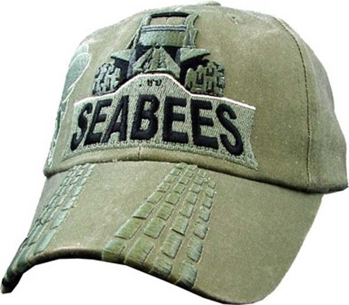 U.S. Navy SeaBees With Dozer ODG Officially Licensed Military Baseball Cap Hat