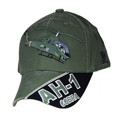 AH-1 COBRA Officially Licensed Military Baseball Cap Hat OD Green