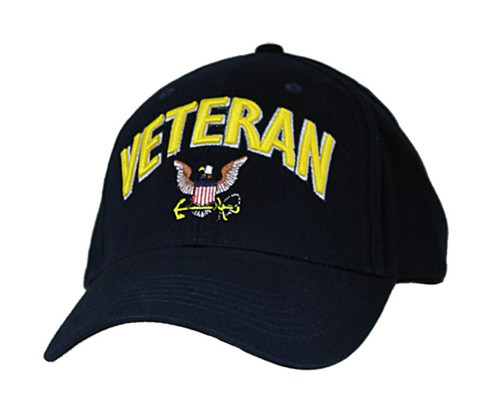 U.S. Navy Veteran with Insignia Officially Licensed Military Baseball Cap Hat