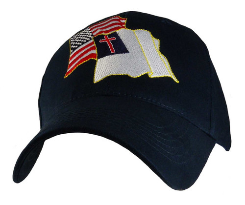 CHRISTIAN & UNITED STATES FLAG CHRISTIAN HAT BASEBALL CAP Share your Faith
