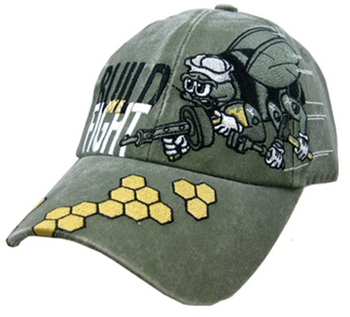 U.S. Navy SeaBees We Build We Fight- Officially Licensed Baseball Cap Hat