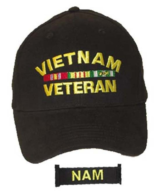 Vietnam Veteran With Ribbons Miltary Hat Baseball Cap (You Are Appreciated)