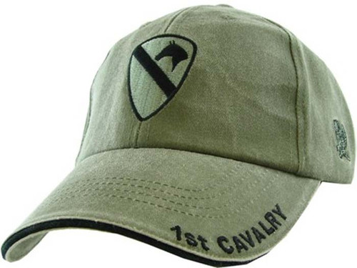 US ARMY 1ST CAVALRY - U.S. Army 1st Cavalry Logo ODG Military Baseball Cap Hat