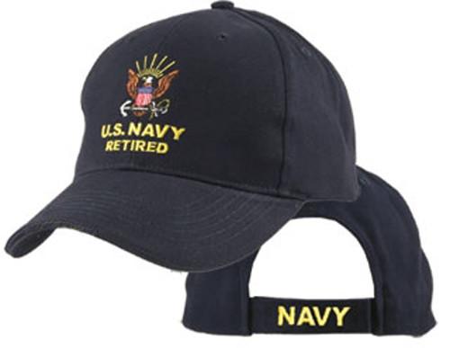 U.S. Navy Retired Officially Licensed Navy Blue Baseball Cap Hat