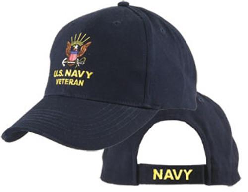U.S. Navy Veteran Navy Blue Officially Licensed Baseball Cap Hat
