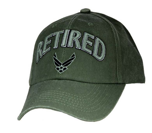 US AIR FORCE RETIRED - U.S.A.F. Officially Licensed Military Hat Baseball Cap