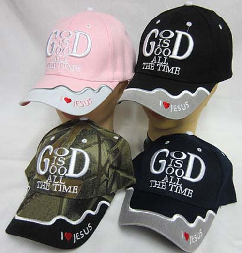 GOD IS GOOD ALL THE TIME Christian Hat Baseball Cap Show Your Faith