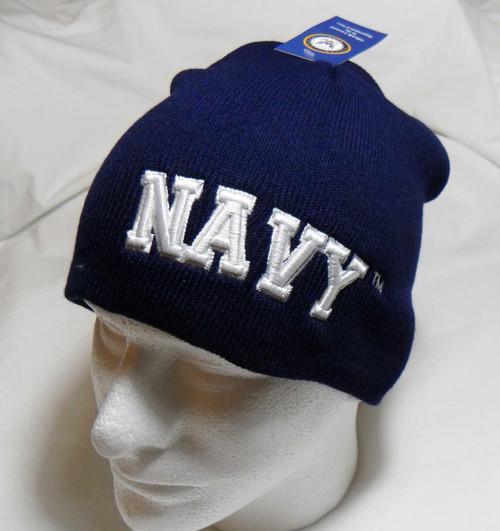U.S. Navy Logo Watch Cap Beanie Winter Ski Hat Toboggan Officially Licensed