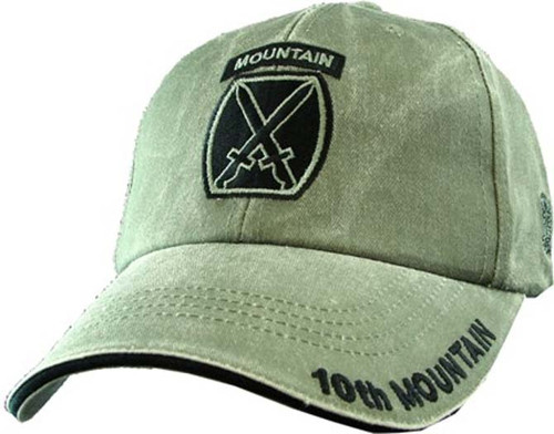 US ARMY 10th MOUNTAIN Division - U.S. Army OD Green Military Baseball Cap Hat
