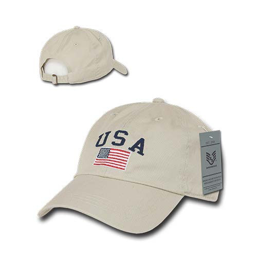 STONE USA Flag Patch United States American Patriotic Polo Baseball Cap Hat