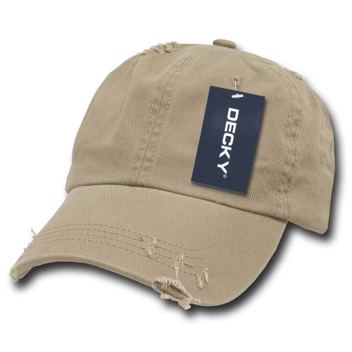 4579a59d973 Khaki Vintage Distressed Retro Polo Low Profile Baseball Cap Golf Hat Hats  Caps