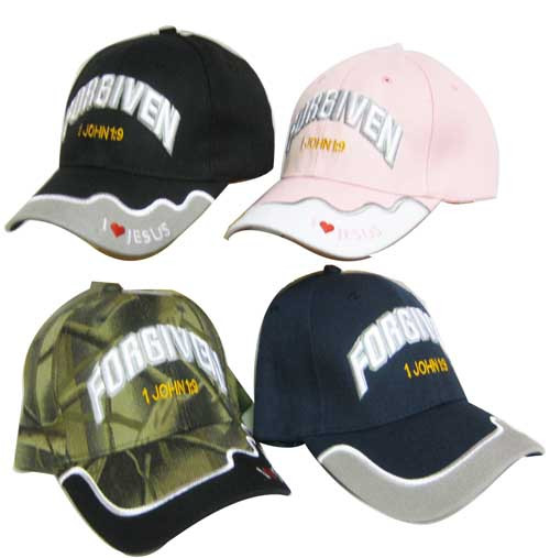 FORGIVEN 1John 1:9 CHRISTIAN HAT BASEBALL CAP